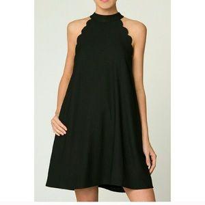 Loveriche Scalloped Shift Dress